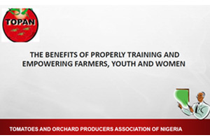 Day2-OyelekeBolaJob,TOPAN-The-Benefits-of-properly-training-and-empowering-farmers-youth-and-women