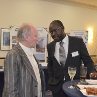 David Wilke, industrial design director, CNH industrial and Gbenga Odimayo, founder of AfriFindInvest at the networking session.